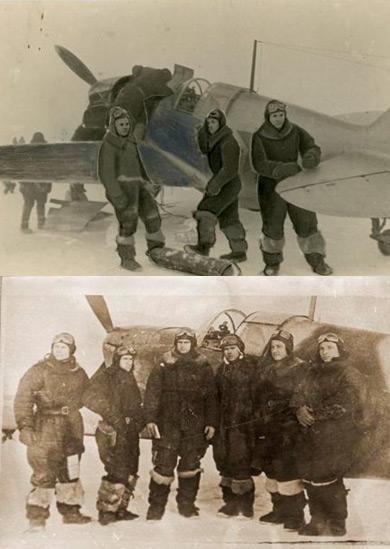 Летчики 172-го ИАП перед боевым вылетом.