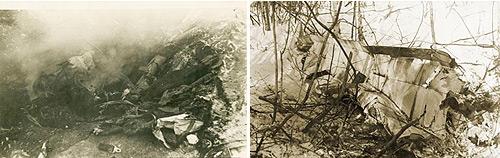 Догорают фашистские стервятники. 1942 г. Обломки «Юнкерса». 1942 г.