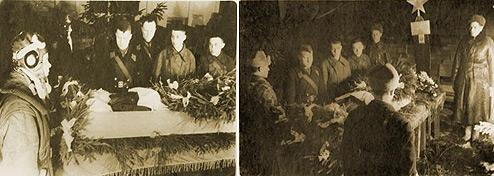 Похороны В.В. Силантьева. г. Кубинка. Февраль 1942 г.
